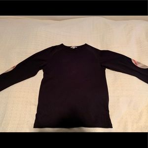 Burberry Shirts & Tops - Burberry Long Sleeve with Check Elbow Patches
